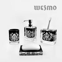 Buy cheap Polyresin Bathroom Set with Soap Dispenser, Toothbrush Holder, Tumbler * 2PCS, Soap Dish from wholesalers