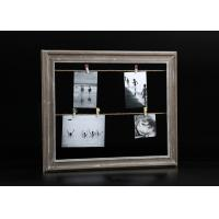 Buy cheap Washed Green Wooden Photo And Picture Frame With Clips And Rope For Decorative from wholesalers