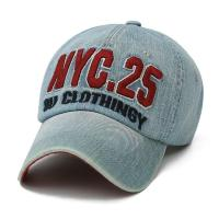 Buy cheap Embroidery Logo Denim Cotton Unstructured 6 Panel Baseball Caps from wholesalers