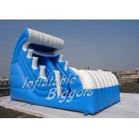 Buy cheap Adults Kids PVC Inflatable Water Slide Rental With Powerful Blower , Blue White from wholesalers