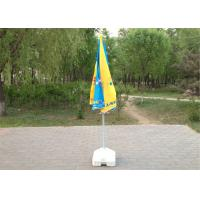 Garden Telescopic Sun Beach Umbrella Custom Advertising With Steel Wire Ribs