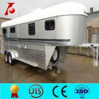China China gooseneck horse trailer,3 horse gooseneck horse float,best price horse trailers on sale