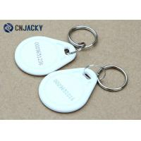 Buy cheap ABS Material Rfid Key Fob System , White Color NFC NTAG213 Hotel Rfid Key Tag from wholesalers