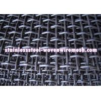 Buy cheap Crimped Carbon Steel Wire Mesh Square Aperture And Round Wire In Sheet High Tensile from wholesalers