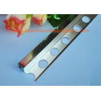 Buy cheap Mirror Bright Aluminium Tile Edge Trim , Polished Chrome Angle Trim Tile Edging from wholesalers