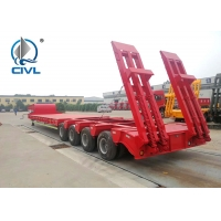 Buy cheap Low Bed 50 Ton Semi Trailer Trucks 3 Axles Gooseneck Drop Deck from wholesalers