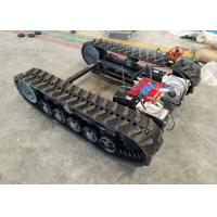 Buy cheap Black Rubber Track Undercarriage Chasiss 1-10T For Construction Equipment Spare Parts from wholesalers