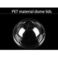 Buy cheap PET material dome lid different size clear food grade lids for cups from wholesalers