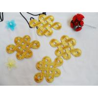 Buy cheap Hot Fix Motif   Gold  Embroidery Applique as Chinese Knot  Picture from wholesalers