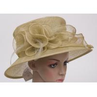 Buy cheap High Crown Feather Fascinators Big Decoration Ladies Church Hats For Fashion from wholesalers