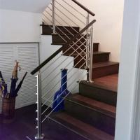 Buy cheap Steel stair rails and banisters with wooden hand rail design from wholesalers
