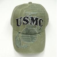Buy cheap OEM / ODM 100% Cotton Appliqué Embroidefy Military Baseball Caps With Printed Logo from wholesalers