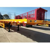 Buy cheap Container Carrying Flat Bed Semi Trailer Truck With 3 Axles 30-60 Tons 13m from wholesalers