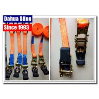 Buy cheap Customized Length Short Ratchet Tie Down Straps For Motorcycle Lightweight from wholesalers