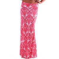 Buy cheap Customized Damask Knit Long Women Dresses Skirts In Coral / White product
