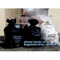 Buy cheap Clear / Yellow LDPE Asbestos Removal Bags, PE Asbestos bags for sand and gravel, disposable plastic yellow poly asbestos from wholesalers