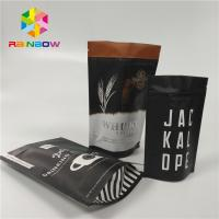 Buy cheap Aluminum Foil Stand Up Coffee Pouches Packaging Custom Size With Valve / Zipper from wholesalers