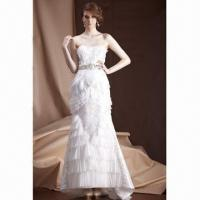 Buy cheap Knee-length Ball Gown Princess Lace with Embroidered Wedding Dress,OEM/ODM Services Provided from wholesalers