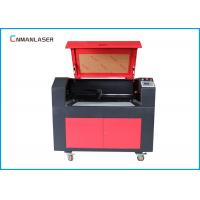 Buy cheap 9060 MDF Plywood Co2 Laser Cutter Machine With 80w Ruida Control System Stepper Motor from wholesalers