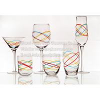 Buy cheap new style engraved colored line classic wine glasses flute red/white wine martini tumbler from wholesalers