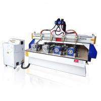 Buy cheap ELE - 2015 4 spindles 3d wood carving cnc router with 4 rotary devices from wholesalers