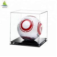 Buy cheap Large clear acrylic model cube display box for soccer from wholesalers