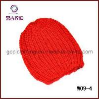 Buy cheap Red Simple Crochet Hat (W09-4) from wholesalers