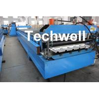 China Steel Metal Roof Panel Roll Forming Machine, Roof Panel Roll Former With 5 Ton Decoiler on sale