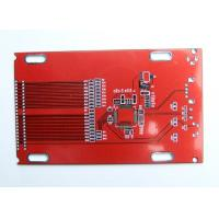 Buy cheap 4 Layer HASL lead free Prototype PCB red solder mask industrial control circuit board from wholesalers