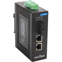 2  port megabit ethernet 1 fiber optic industrial switch