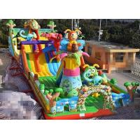 Buy cheap Sewing 10-15 Children Play Inflatable Jumpers Tarpaulin Castle Bounce House from wholesalers