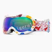 Buy cheap Bicolor frame Ski goggles with double lens coating REVO for adult and for kids from wholesalers