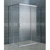 Buy cheap Clear Tempered Glass Rectangular Shower Enclosure Matte Sliver Bathroom Shower Cubicles from wholesalers