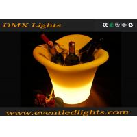 Buy cheap Fashion Recycle Plastic Led Ice Cooler / Ice Bucket For Beer Promotion Project from wholesalers