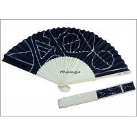 Buy cheap Recycled Hand Held Folding Fans Bamboo Side Logo Personalized Folding Hand Fans product