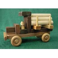 Maple / Walnut Wood Natural Childrens Toy Building Vehicle Blocks