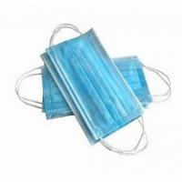Buy cheap Blue Color 3 Ply Non Woven Fabric Face Mask Customized Package 17.5x9.5 Cm from wholesalers