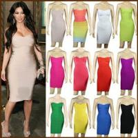 Buy cheap Wholesale High Quality Strapless New Design Hot Sale Popular Sexy Bandage Dress from wholesalers
