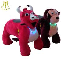 Buy cheap Hansel  Guangzhou party rental games plush animal rocking horse toy with  music from wholesalers