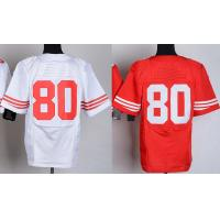 Buy cheap NFL jerseys San Francisco 49ers  80#Rice    white&red Elite Jerseys from wholesalers
