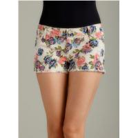 Buy cheap Fashion Floral Print Womens Summer Shorts Slim Juniors High Waisted Shorts from wholesalers