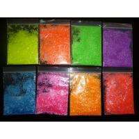 Buy cheap 1/12 2mm 0.08 Matte PET Glitter Powder Neon yellow green pink orange glitter sequin for nail polish from wholesalers