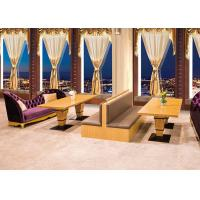 Buy cheap Luxurious Upscale Upholstered Restaurant Furniture Booths / Waiting Benches from wholesalers