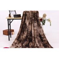 Buy cheap Brushed Pv Velvet Fake Fur Blanket For Children / Adults Allergy Free Brown Color from wholesalers