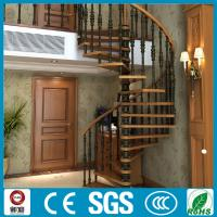 Buy cheap Modern appearance steel wood spiral staircase used in villa from wholesalers