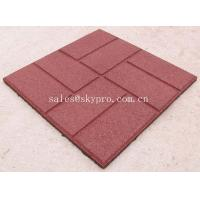 Buy cheap Buffering square flooring crumb rubber brick pavers / granules rubber tile from wholesalers