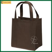 Buy cheap Lightweight Reusable Cut Non Woven Bags Custom Reusable Shopper Tote Reinforced PP Non Woven Shopping Bags from wholesalers