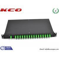 Corning Single Mode Fiber Optic Splitter 1 to 16 Rack Mount  SC / APC Connector