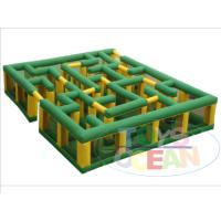 Buy cheap Large Outdoor Inflatable Sport Game Entertainment Corn Maze Labyrinth Laser Tag from wholesalers