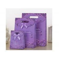 Buy cheap Purple Shopping Kraft Coated Paper Bags With Harmless Raw Material from wholesalers
